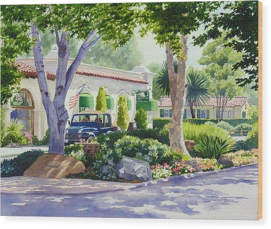 Downtown Rancho Santa Fe Wood Print by Mary Helmreich