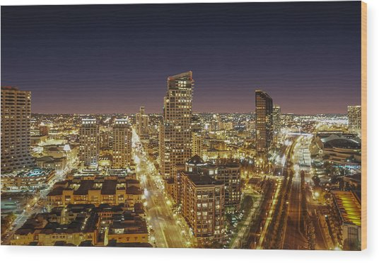 Downtown San Diego Wood Print