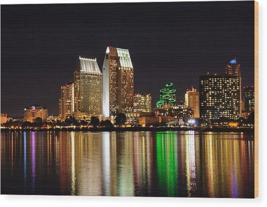 Downtown San Diego Wood Print