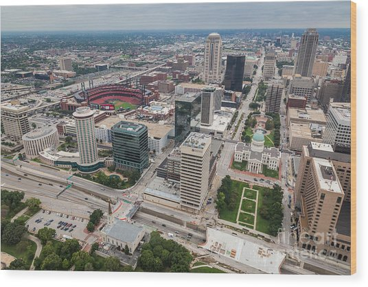 Downtown St Louis Wood Print