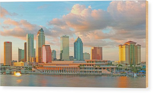Downtown Tampa Skyline Wood Print