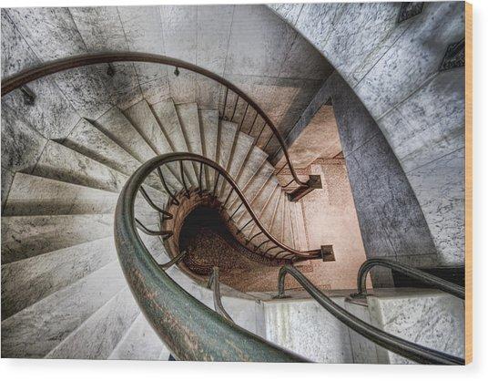 Downward Spiral Wood Print