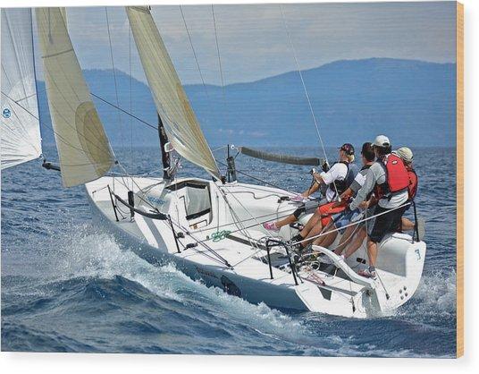 Downwind On Lake Tahoe Wood Print