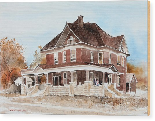 Dr. Hall Residence Wood Print