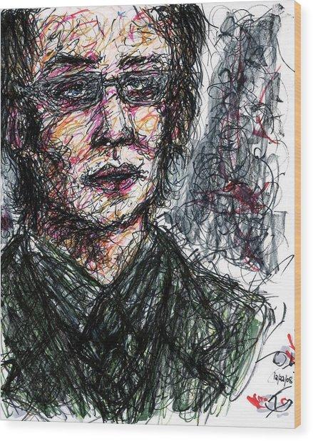 Dr. Jonathan Crane Aka The Scarecrow Wood Print