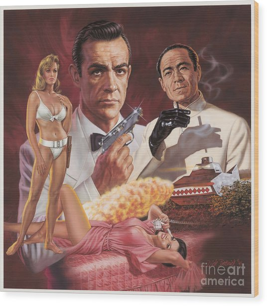 Dr. No Wood Print