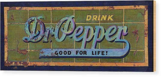 Dr Pepper Wood Print