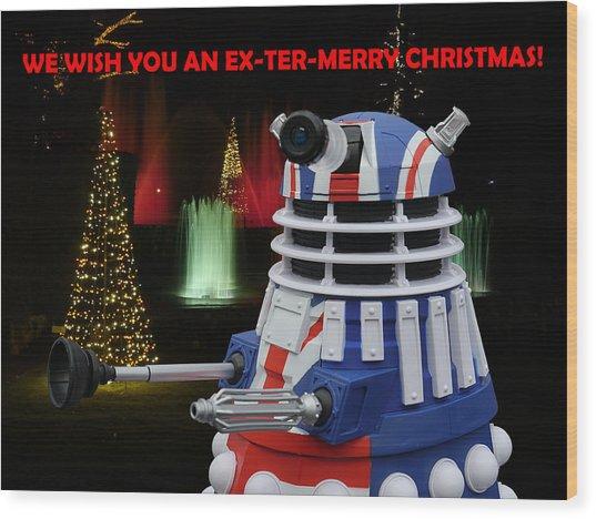 Dr Who - Dalek Christmas Wood Print