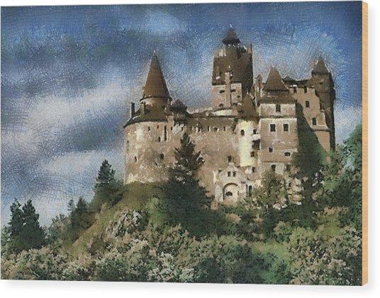 Dracula Castle Romania Wood Print
