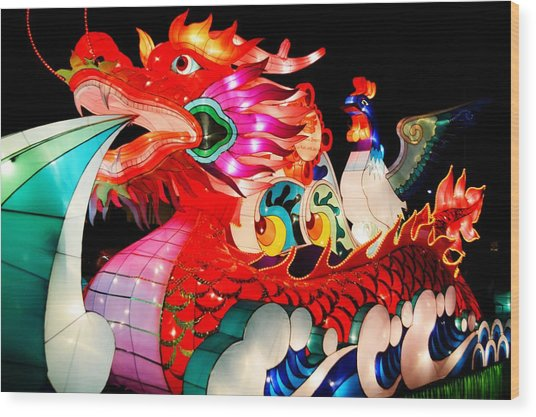 Dragon Float Wood Print