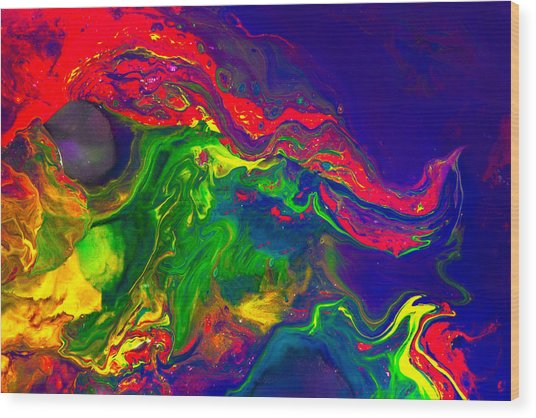Dragon - Modern Abstract Painting Wood Print