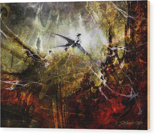 Dragon Realms Wood Print