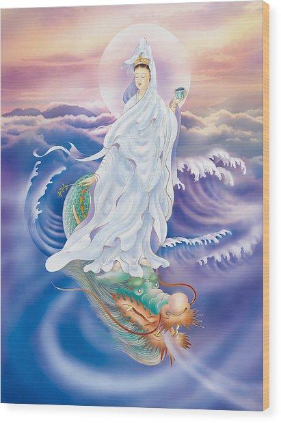 Dragon-riding Avalokitesvara  Wood Print