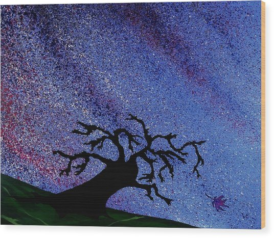 Dragon Tree Wood Print by Winter Frieze