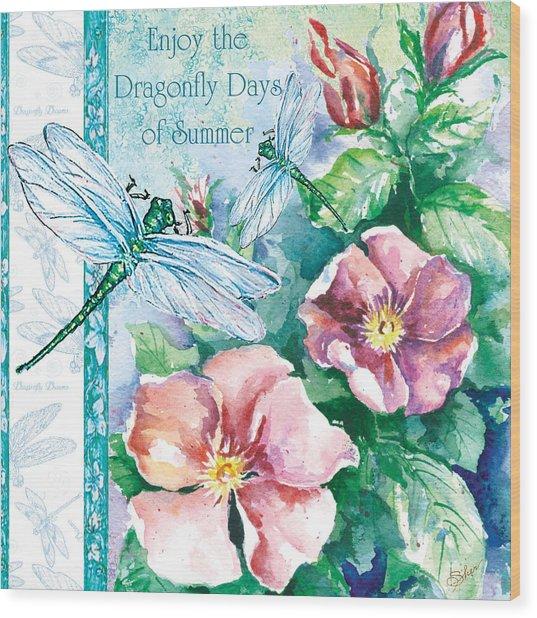 Dragonfly Days Wood Print