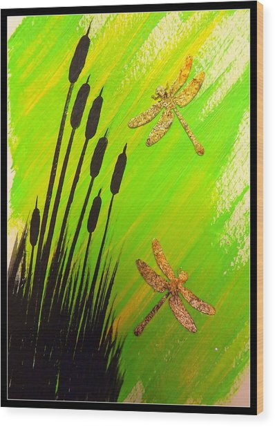 Dragonfly Dreams Wood Print