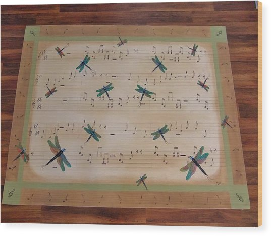 Dragonfly Symphony 64x45 Art For Your Floor Wood Print