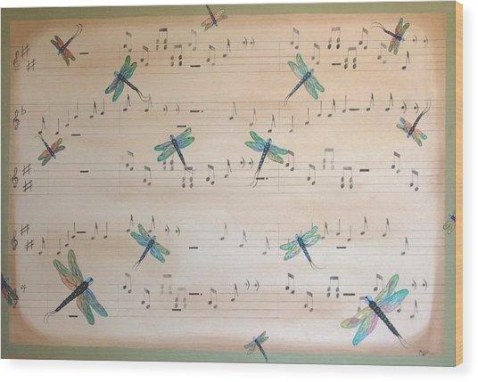 Dragonfly Symphony Wood Print
