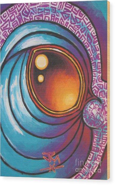 Dragon's Eye Wood Print by Jedidiah Morley