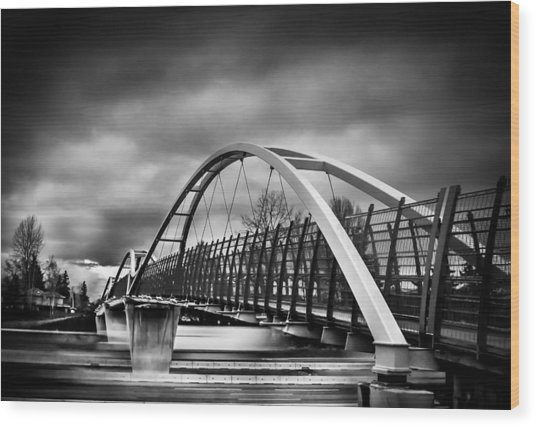 Dramatic Overpass Wood Print