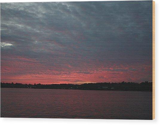 Dramatic Sunset Wood Print