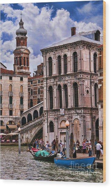 Dramatic Venice Wood Print