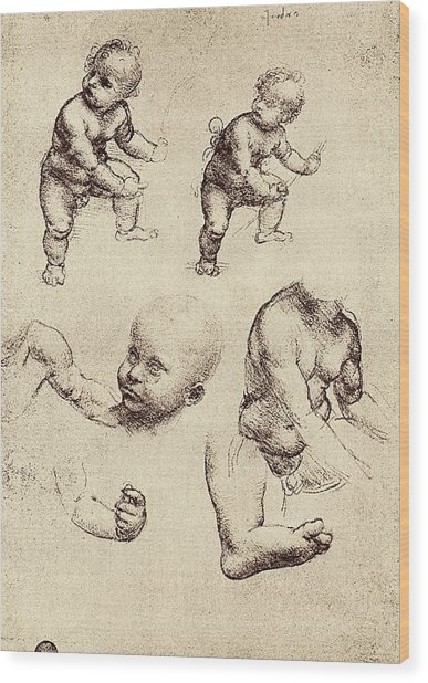 Drawings Of A Child Wood Print by Sheila Terry