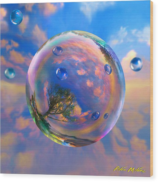 Dream Bubble Wood Print