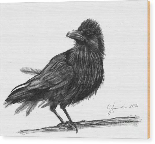 Dream Crow Wood Print