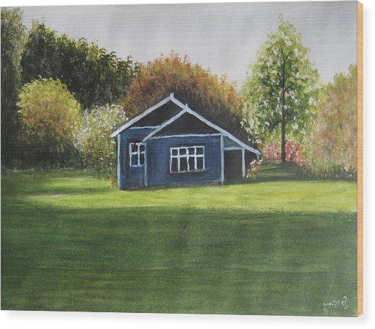 Dream House Wood Print by Usha Rai