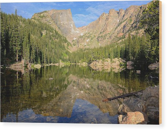 Dream Lake Reflection Wood Print