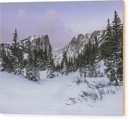 Dream Lake Sunrise Wood Print by Robert Yone