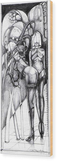 Dream Machine Wood Print by Ertan Aktas