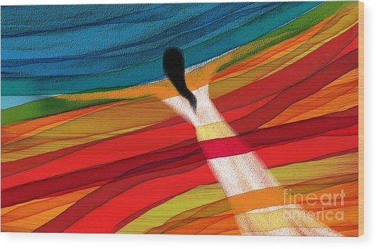 Dream Weaver Wood Print by Hilda Lechuga