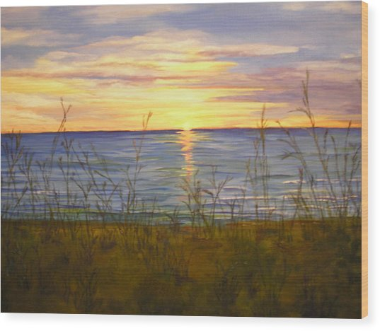 Dreamers Sunrise Wood Print by Cheryl Damschen