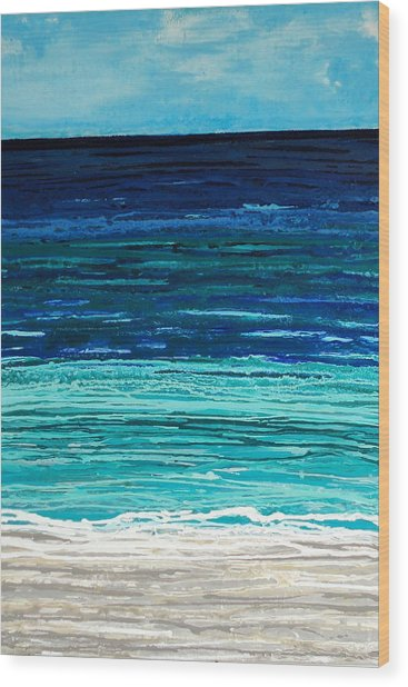 Dreaming Of The Sea Wood Print