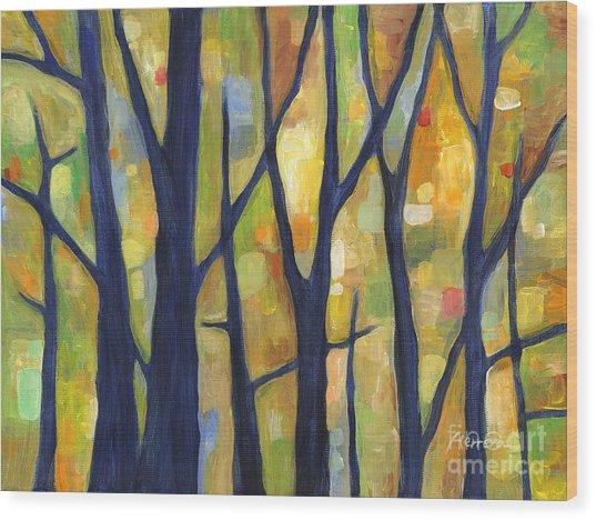 Dreaming Trees 2 Wood Print