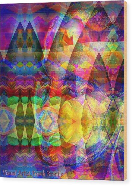 Wood Print featuring the digital art Dreaming by Visual Artist Frank Bonilla