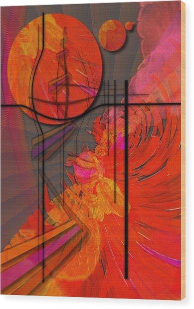 Dreamscape 06 - Tangerine Dream Wood Print