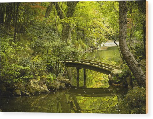 Dreamy Japanese Garden Wood Print