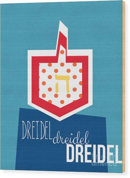 Dreidels Wood Print