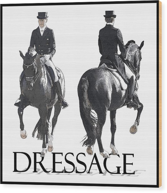 Dressage II Wood Print