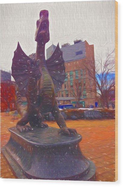 Drexel Dragon Colored Wood Print