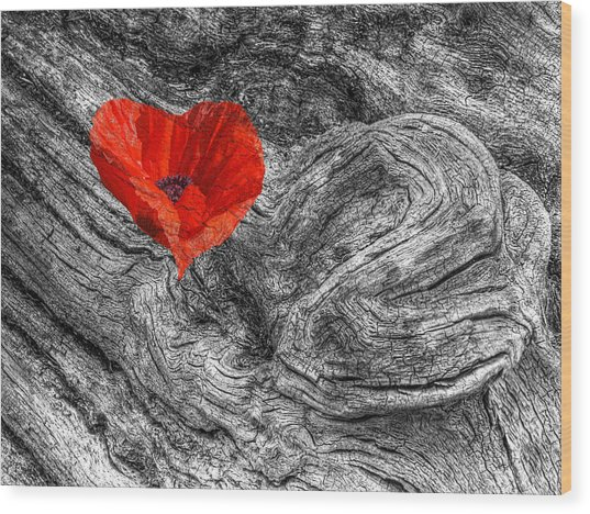 Drifting - Love Merging Wood Print