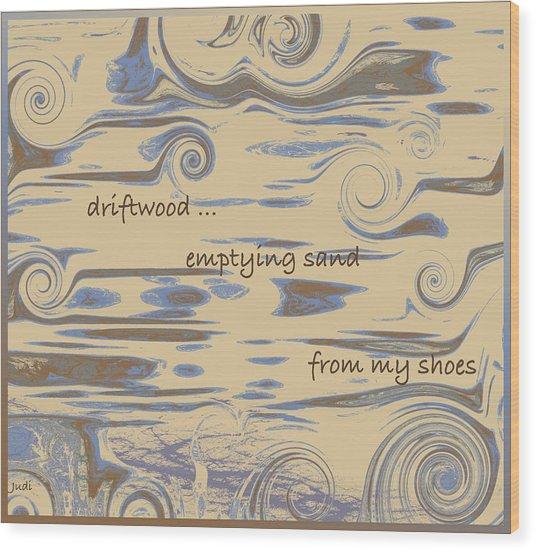 Driftwood Haiga Wood Print