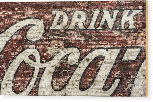 Drink Coca-cola 2 Wood Print