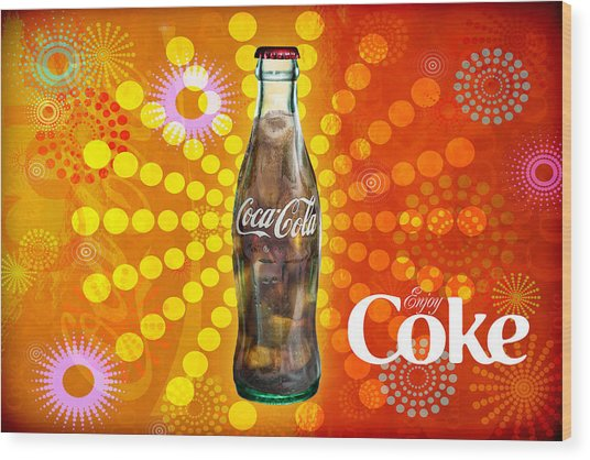 Wood Print featuring the photograph Drink Ice Cold Coke 4 by James Sage