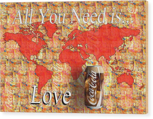 Wood Print featuring the photograph Drink Ice Cold Coke 5 by James Sage