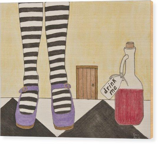 Drink Me Wood Print by Sean Mitchell