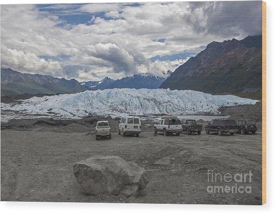 Drive In Glacier Wood Print